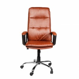 Крісло офісне Azuro руде з еко шкіри