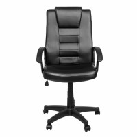 Крісло офісне Lauge чорне з еко шкіри