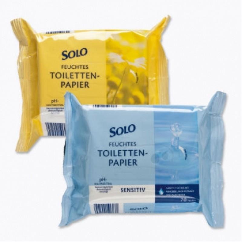Папір вологий Solo toiletten papier туалетний 70шт
