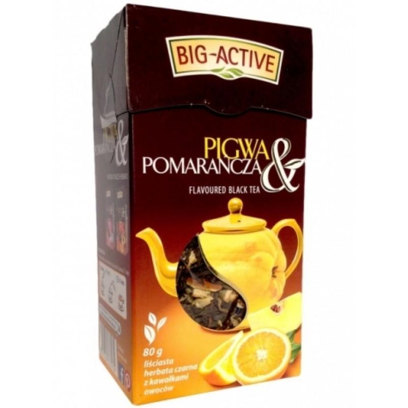 Чай чорний Big Active з айвою та апельсином та 80г