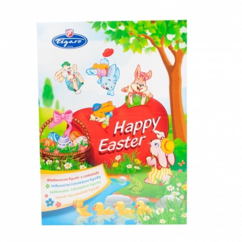 Пасхальеий календар Figaro з цукерками 50г