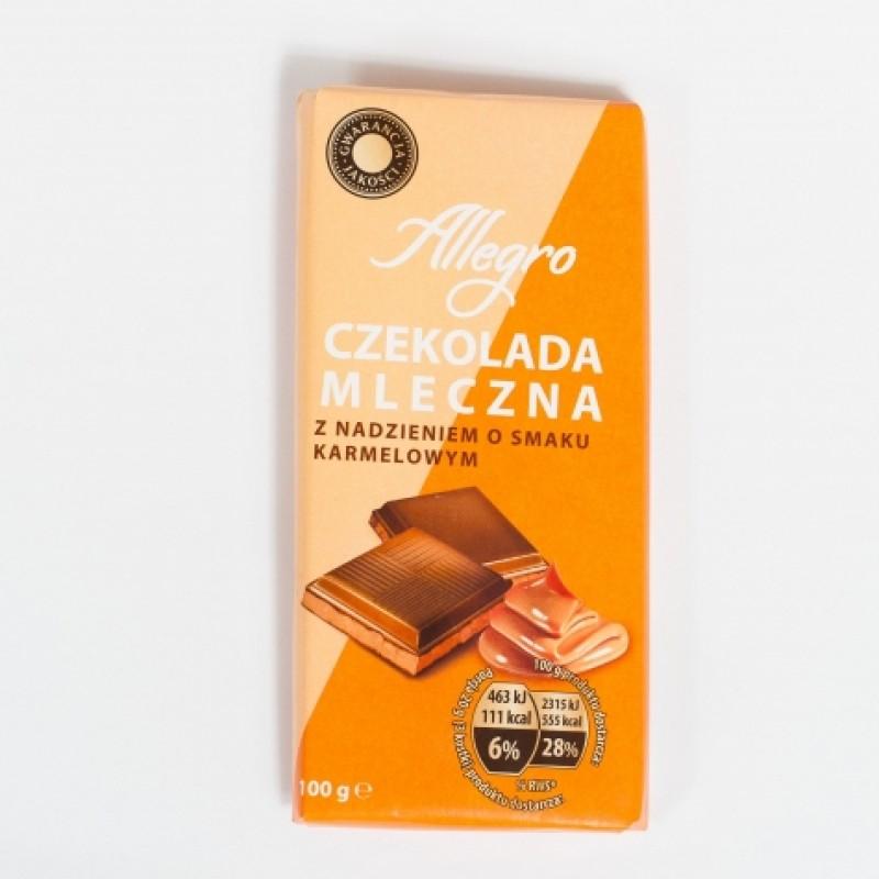 Шоколад Allegro молочний з карамеллю 100г