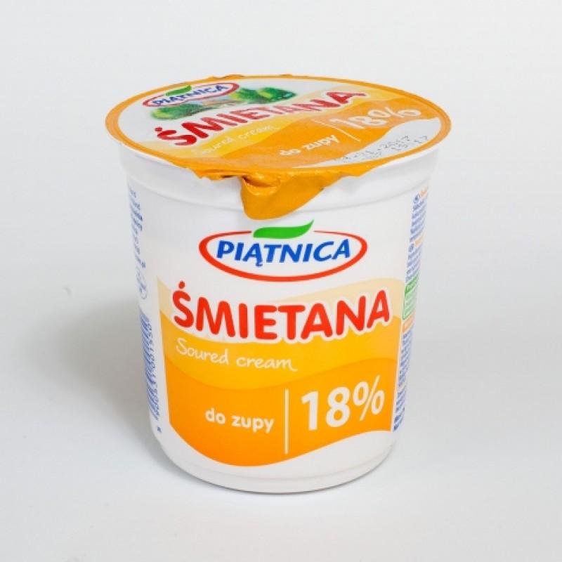 Сметана Piatnica до зупи 18% 330г