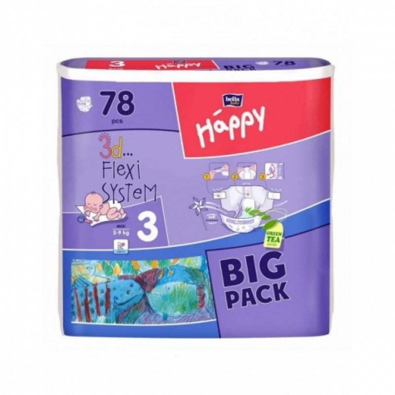 Підгузки дитячі Bella Happy 3 Midi 5-9 кг 78шт