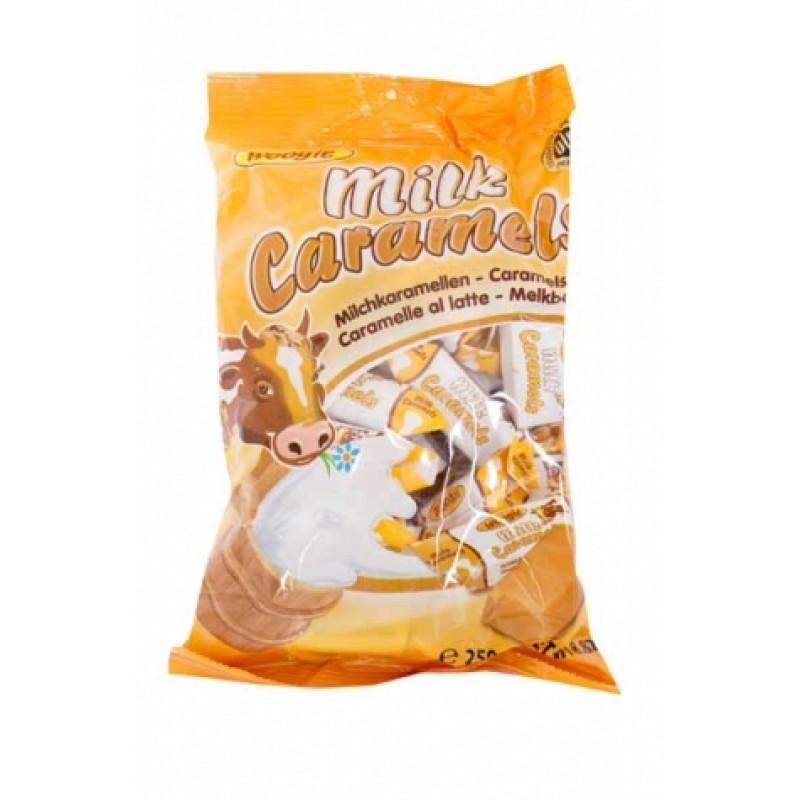 Цукерки Woogle milk латте-карамель 250г