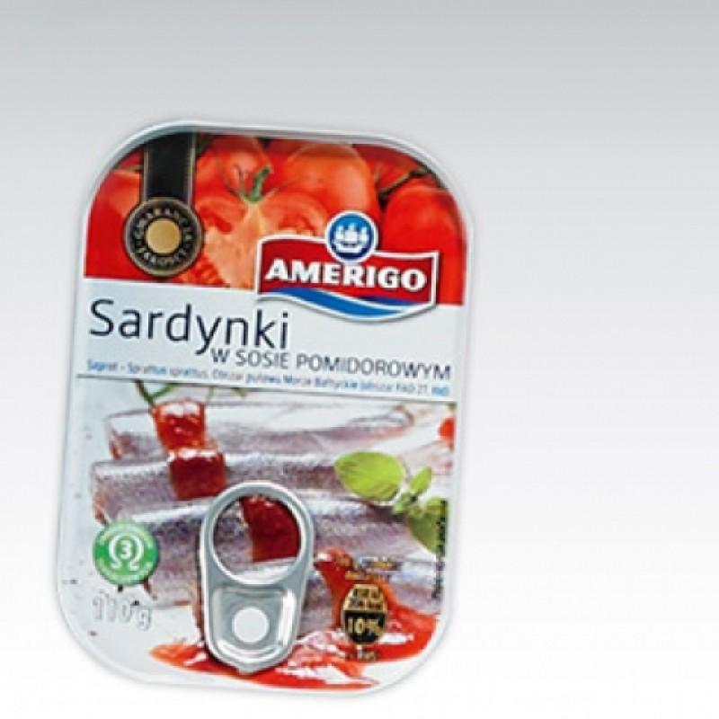 Сардини Amerigo в томатному соусі 110г