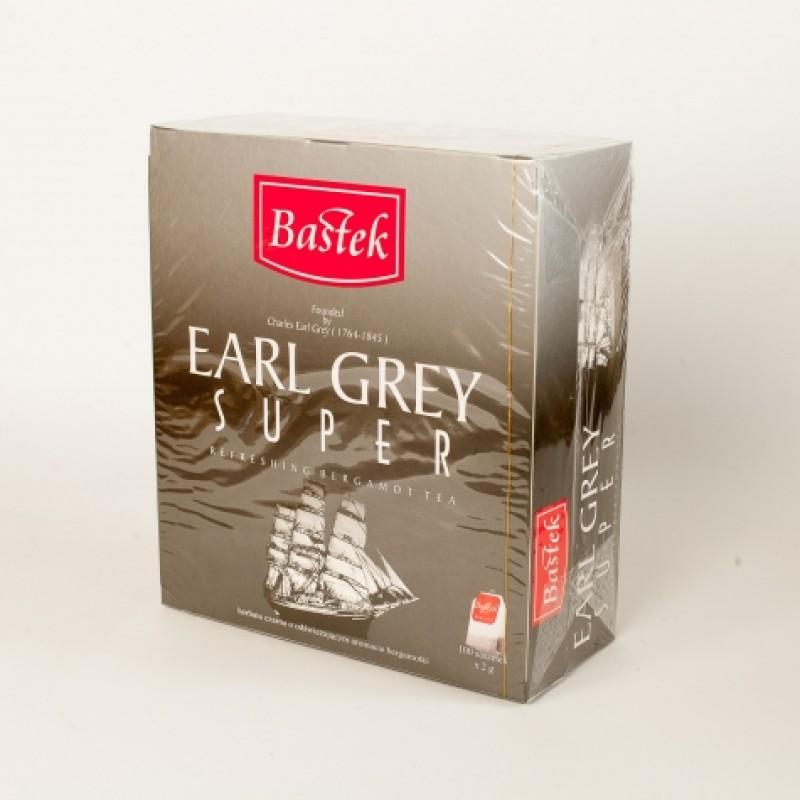Чай Bastek чорний з бергамотом 100пакетиків