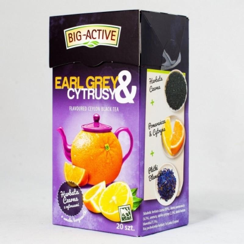 Чай чорний Big-Active з бергамотом та цитрусовими 20пакетиків