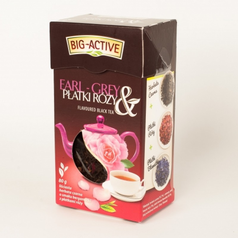 Чай чорний Big-Active з пилюстками рози 80г