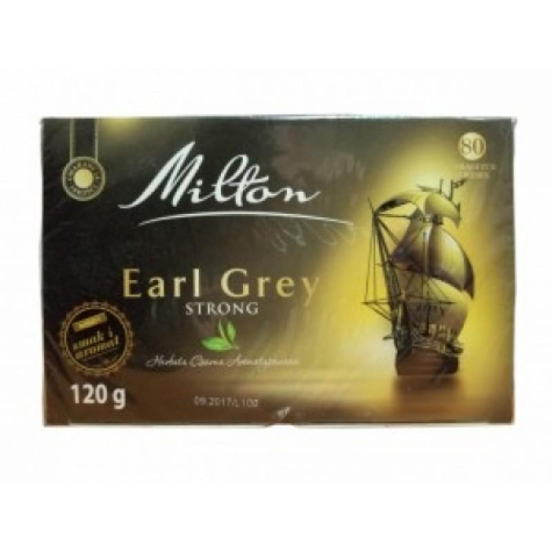 Чай чорний Milton Earl Grey міцнтй 80пакетиків