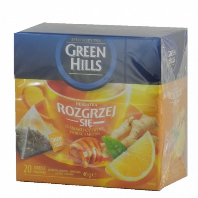 Чай Green Hills iмбир мед та лимон 20пірамідок