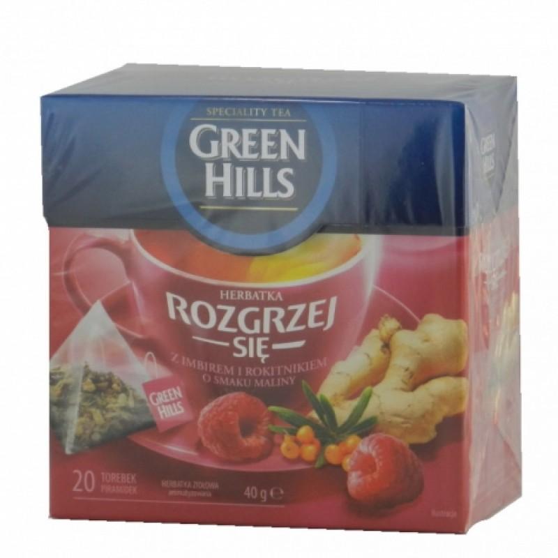 Чай Green Hills iмбир та малина 20пірамідок