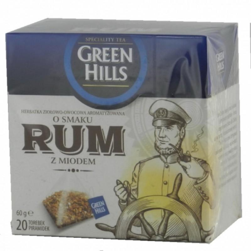 Чай Green Hills з ароматом рому та меду 20пірамідок