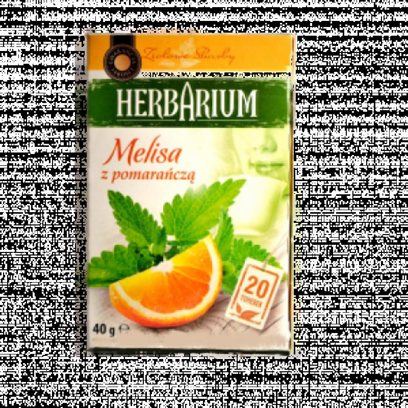 Чай травяний Herbarium меліса і апельсин 20пакетиків