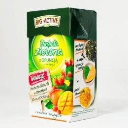 Чай зелений Big-Active з манго та пелюстками квітки кактуса 20пакетиків
