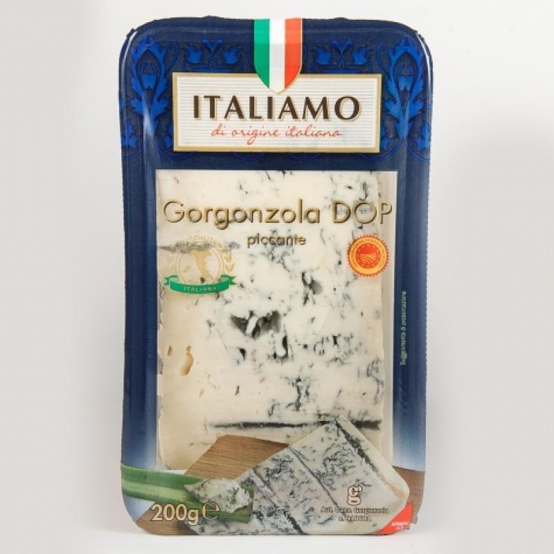 Сир з плiснявою Italiamo Gorgonzola DOP picante 200г