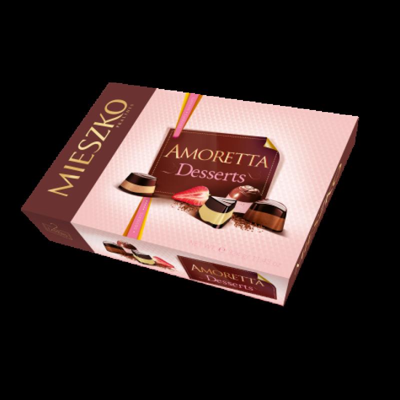 Цукерки Mieszko Amoretta desserts 325г