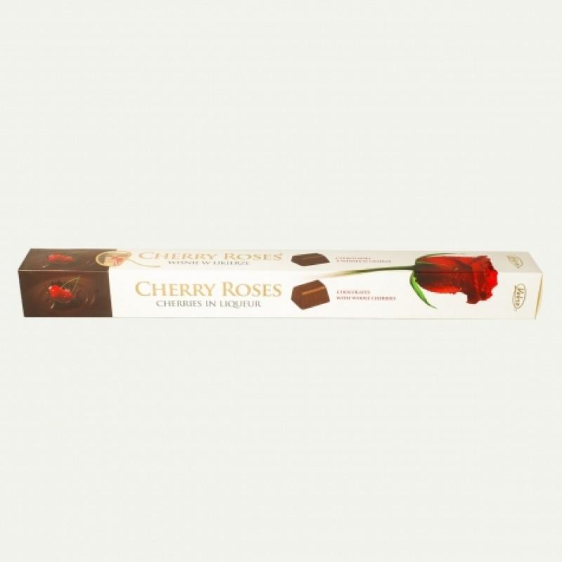 Цукерки Vobro Cherry Roses вишня в лікері (подарункова упаковка)
