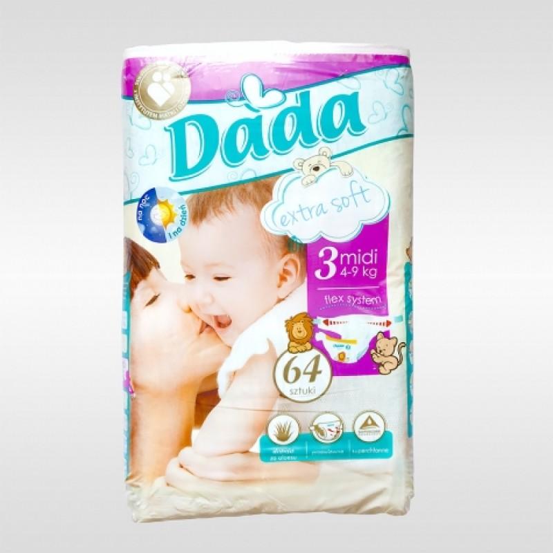 Підгузки дитячі Dada 3 ExtraSoft Midi 4-9кг 64шт