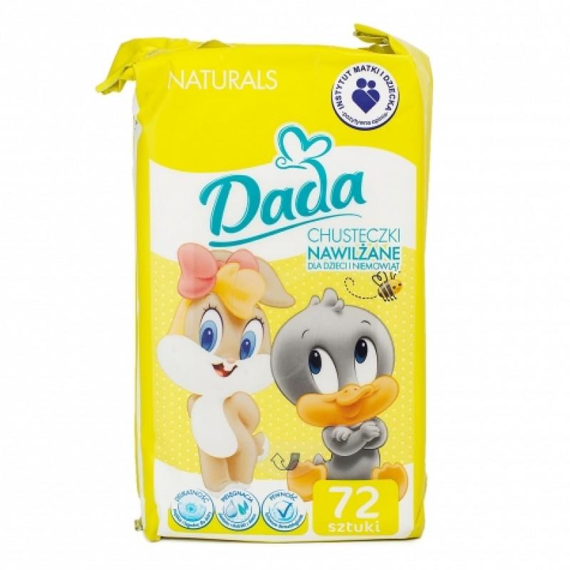 Дитячі вологі серветки Dada Naturals 72шт
