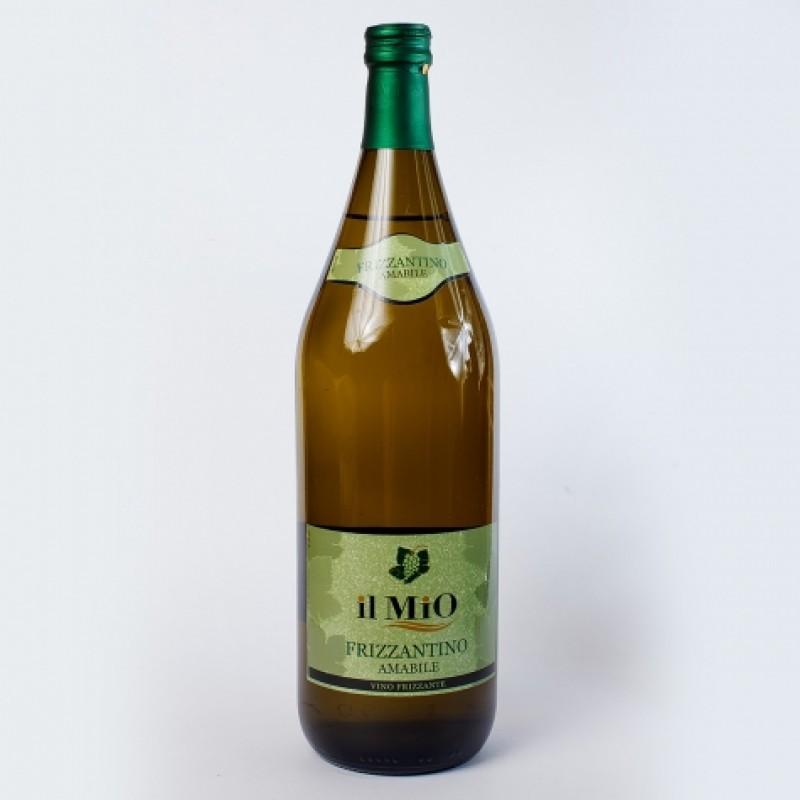 Вино бiле Frizzantino Amabile il Mio 8% 1,5л