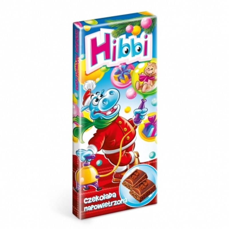 Шоколад Hibbi молочний пористий 75г