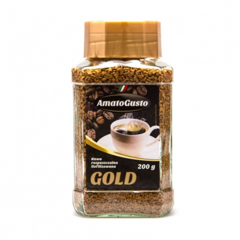 Кава розчинна Amato gusto gold 200г