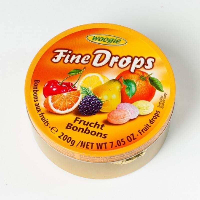 Льодяники Fine Drops фруктові 200г ж\б