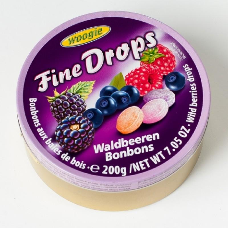 Льодяники Fine Drops лісові ягоди 200г ж\б