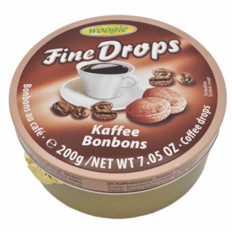 Льодяники Fine Drops Woogie зі смаком кави 200г ж\б