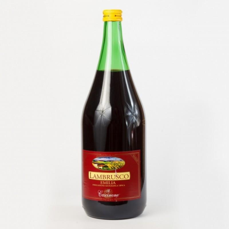Вино червоне ігристе Lambrusco Emilia il Cascinone 8% 1,5л