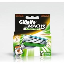 Леза Gillette Mach3 Sensitive 5 шт