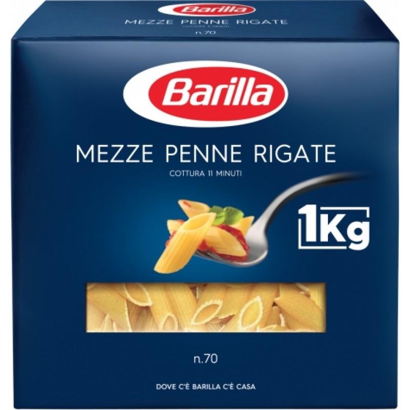 Макарони Barilla n70 Mezze Penne Rigate 1кг