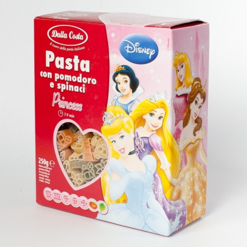 Макарони дитячi Dalla Costa Princess з помiдором та шпинатом 250г
