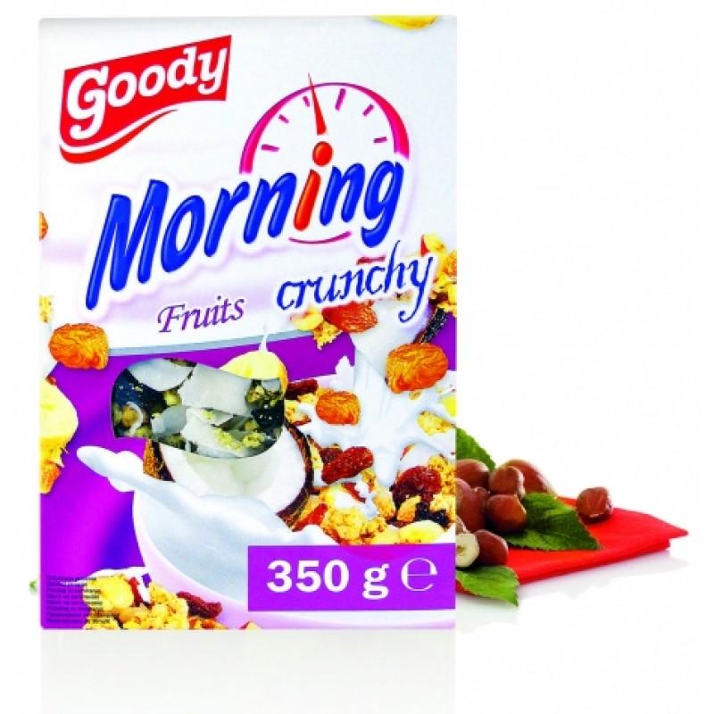 Мюслі кранчі Goody Morning з сухофруктами 350г