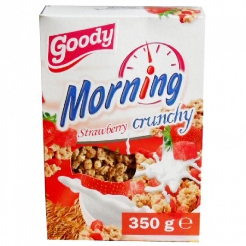 Мюслі кранчі Goody Morning з полуницею 350г