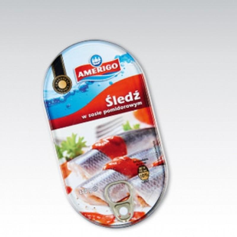 Оселедець Amerigo в томатному соусі 170г