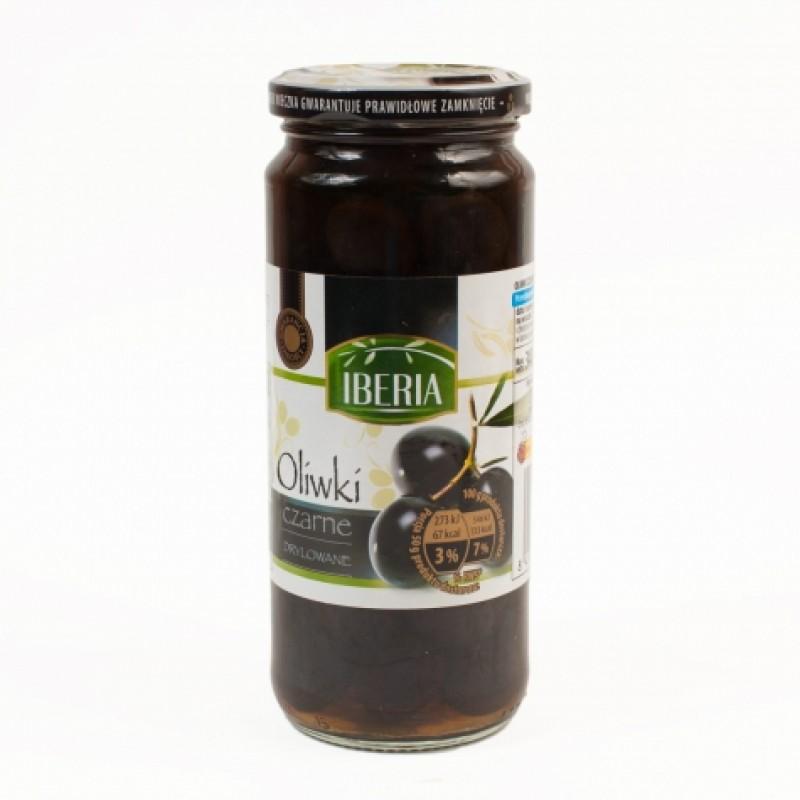 Оливки Iberia чорні без кiсточки 340г