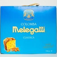 Панеттоне Melegatti з цукатами та мигдалевою посипкою 750г