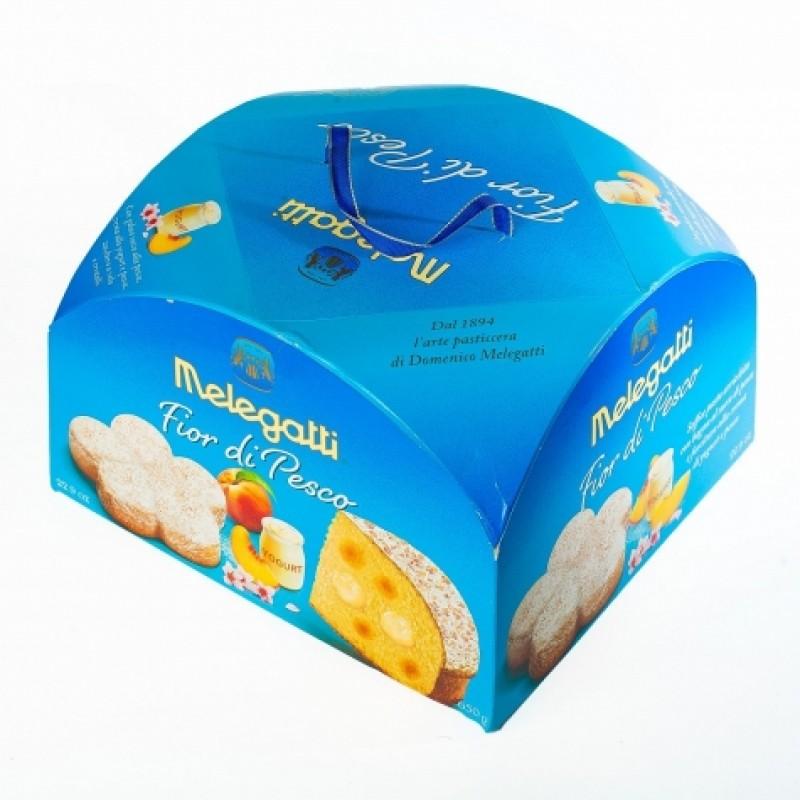 Панеттоне Melegatti з йогуртовим кремом та персиком 650г