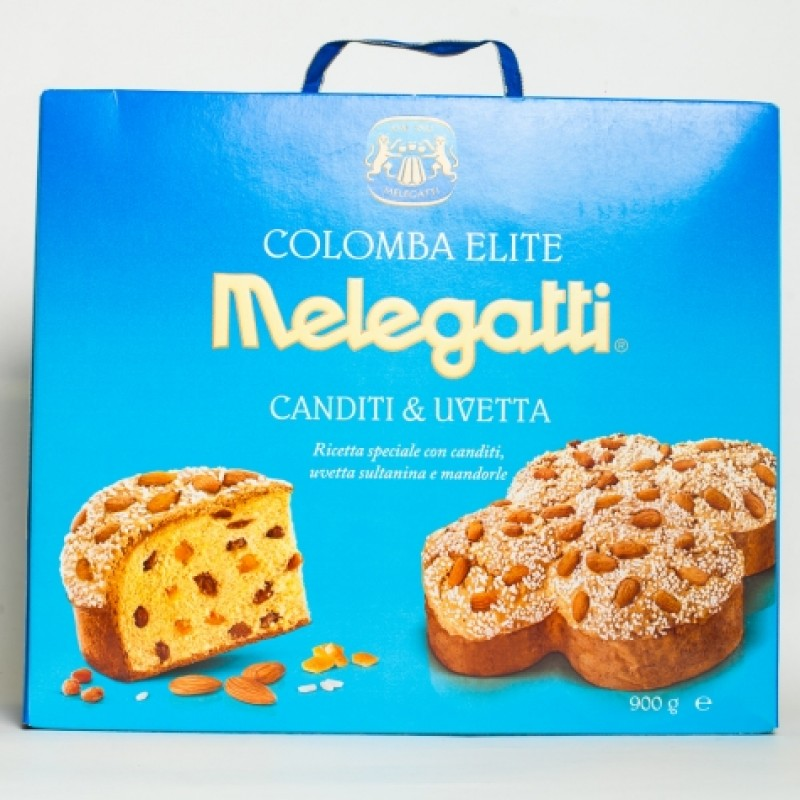 Панеттоне Melegatti з родзинками цукатами та мигдалевою посипкою 900г