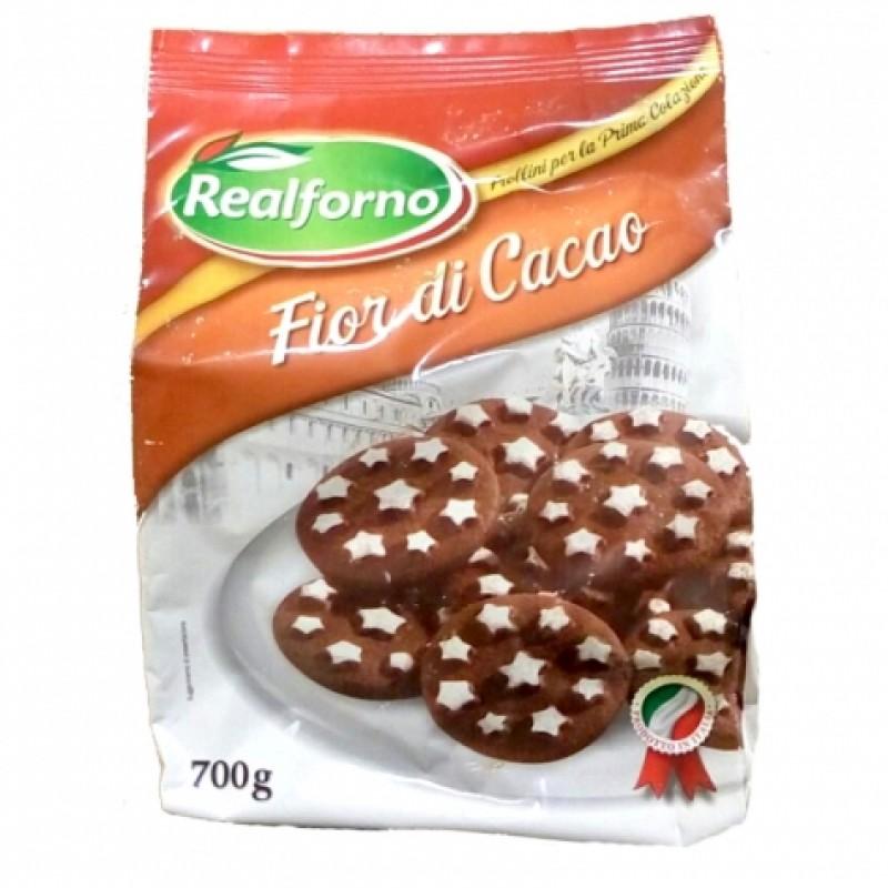 Печення Realforno fior di cacao шоколадне 700г