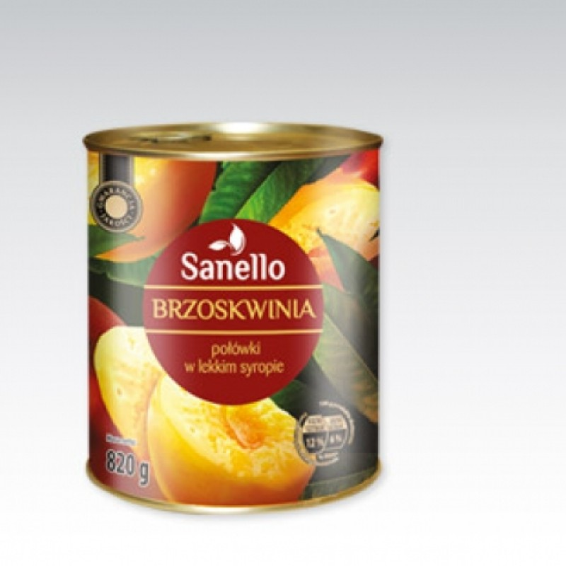 Персики в сиропі Sanello brzoskwinie 820г