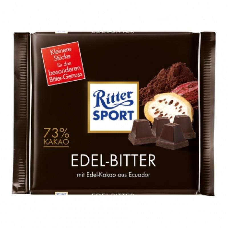 Шоколад Ritter Sport edel-bitter 73% 100г