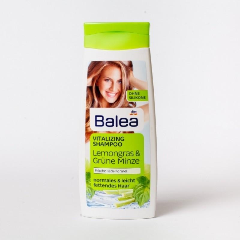 Шампунь Balea для нормального та жирного волосся мята та лемонграс 300мл