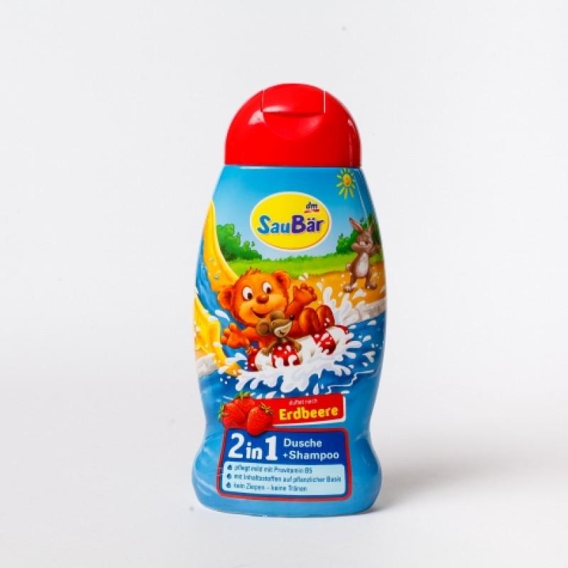 Шампунь-гель дитячий DenkMit Sau Bar полуниця 250мл