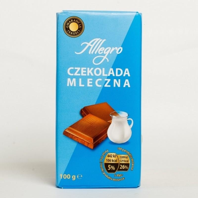 Шоколад Allegro молочний 100г