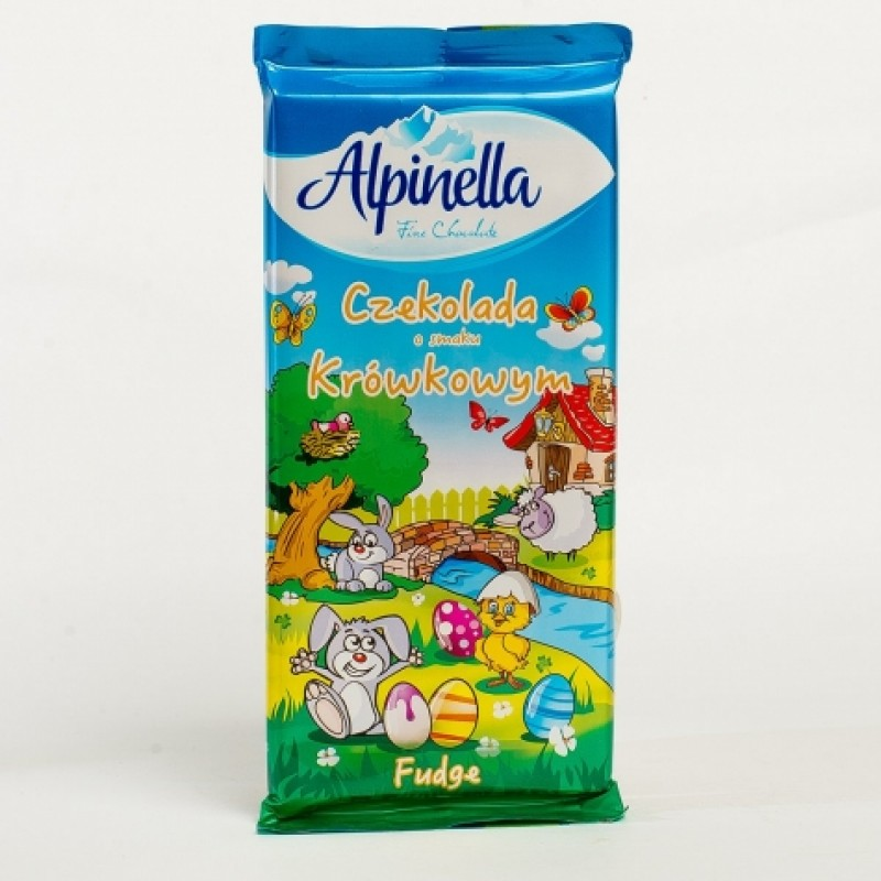 Шоколад Alpinella карамельною начинкою 100г