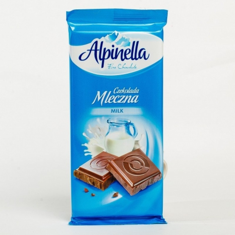 Шоколад Alpinella молочний 100г