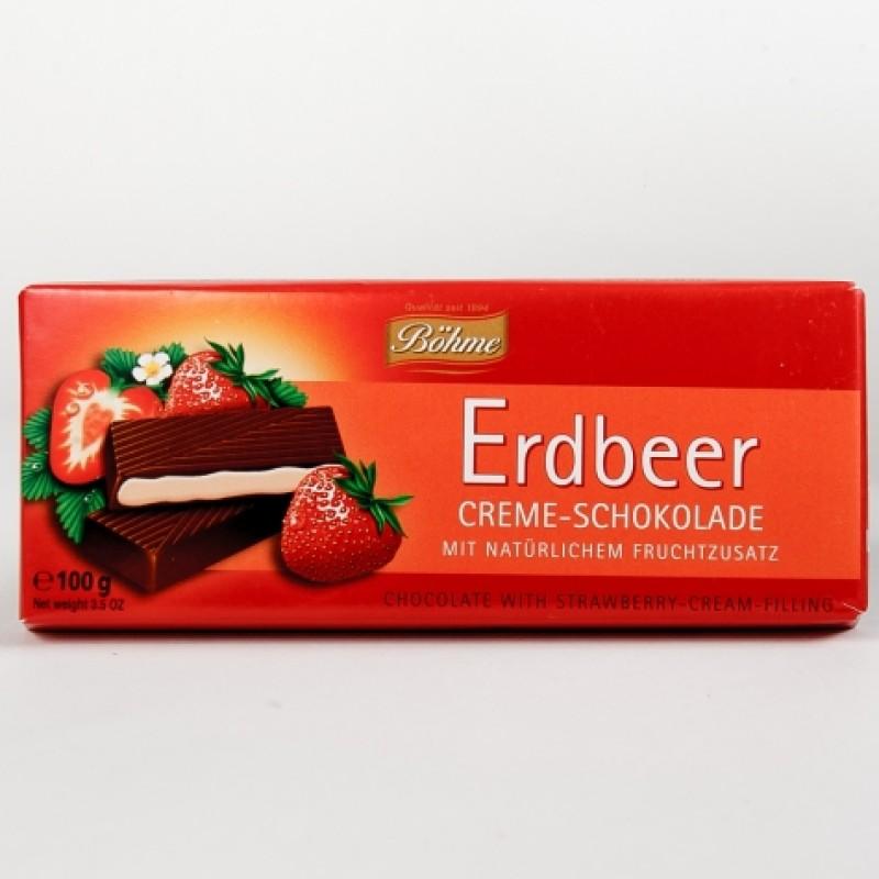 Шоколад Bohme з полуницею 100г